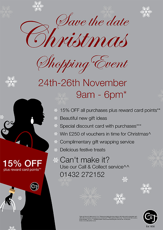 Beautiful New Gift Ideas At Our 3 Day Christmas Shopping Event