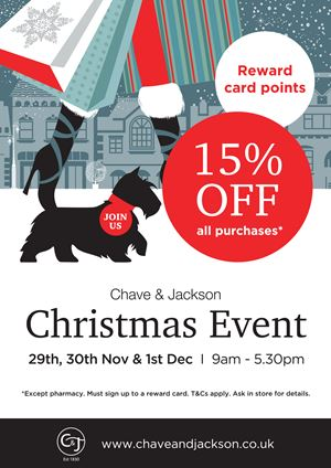 Join us at our three day Christmas Shopping Event 2018