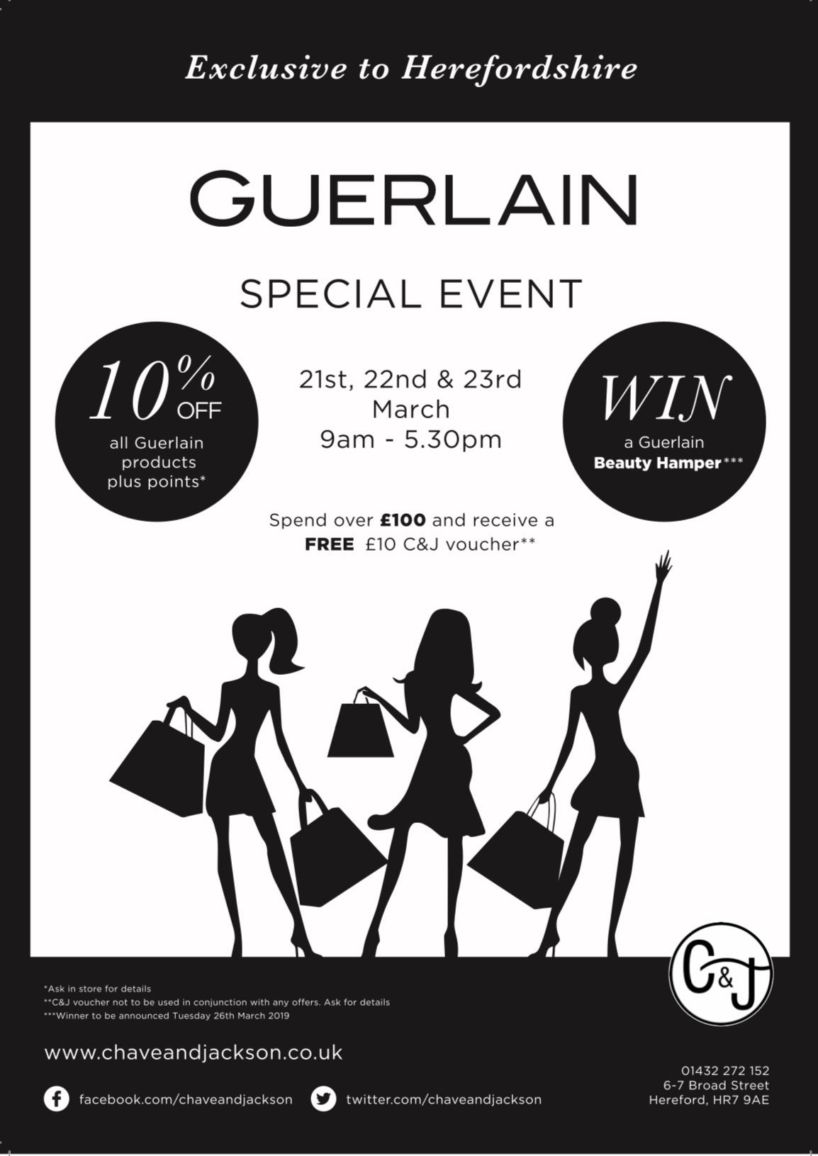 Join us at our Special Guerlain Event from 21st to 23rd March 2019