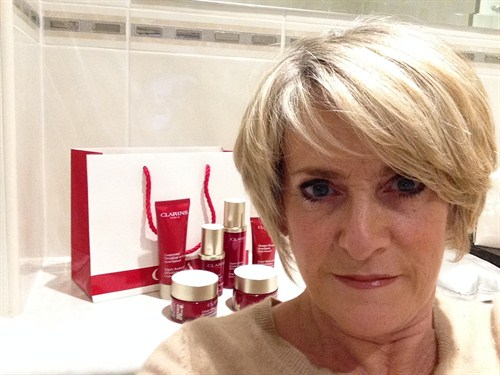 Kerry Diamond With Clarins Super Restorative Range
