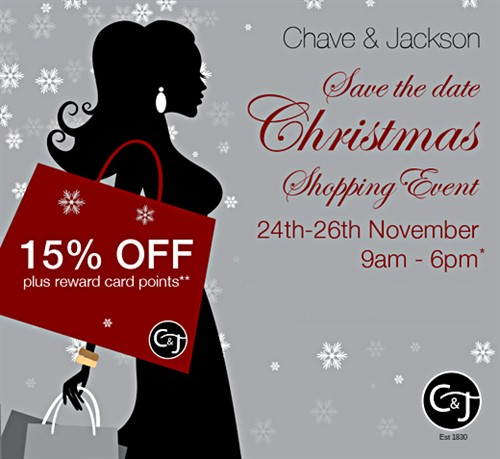 Chave Jackson Exclusive Christmas Shopping Event 2016